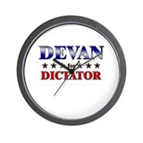 DEVAN for dictator Wall Clock
