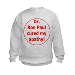 Ron Paul cure-3 Kids Sweatshirt