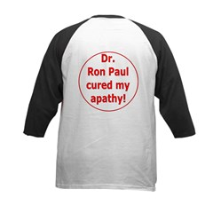 Ron Paul cure-3 Kids Baseball Jersey