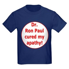 Ron Paul cure-3 Kids Dark T-Shirt