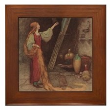 Warwick Goble's Parsley Framed Tile