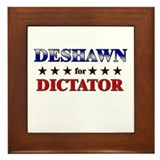 DESHAWN for dictator Framed Tile