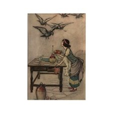 Warwick Goble's The Seven Doves Rectangle Magnet