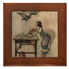Warwick Goble's The Seven Doves Framed Tile