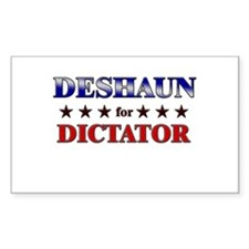 DESHAUN for dictator Rectangle Decal
