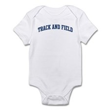 Track And Field (blue curve) Infant Bodysuit