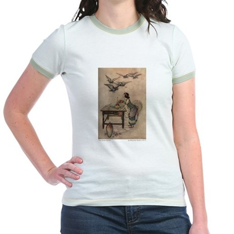 Warwick Goble's The Seven Doves Jr. Ringer T-Shirt
