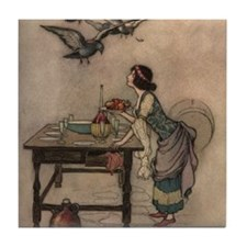 Warwick Goble's The Seven Doves Tile Coaster