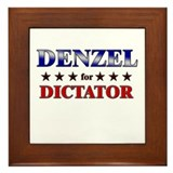 DENZEL for dictator Framed Tile
