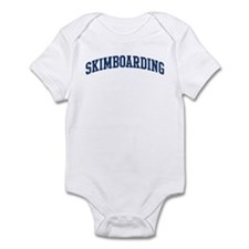 Skimboarding (blue curve) Infant Bodysuit