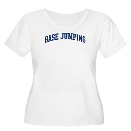 Base Jumping (blue curve) Women's Plus Size Scoop