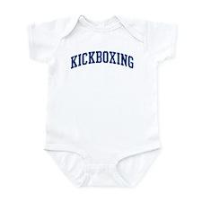 Kickboxing (blue curve) Infant Bodysuit