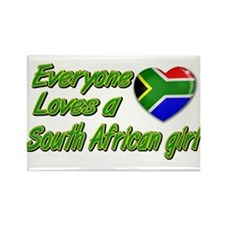 Everyone loves a South African girl Rectangle Magn