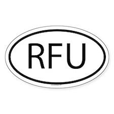 RFU Oval Decal
