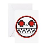 Cannibal Zombie Bot Greeting Card