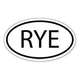 RYE Oval Decal