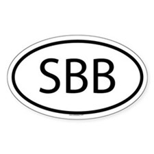 SBB Oval Decal