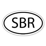 SBR Oval Decal