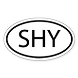 SHY Oval Decal