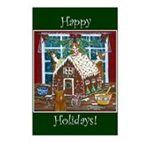 Happy Holidays Gingerbread Postcards (Package of 8