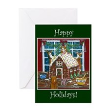 Happy Holidays Gingerbread Greeting Card