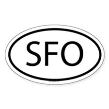 SFO Oval Decal
