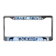 Crazy About Borzois License Plate Frame