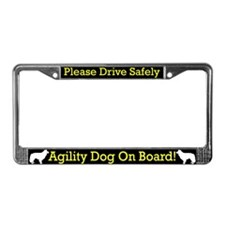 Border Collie Agility Dog License Plate Frame