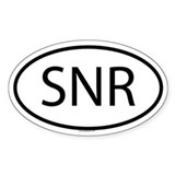 SNR Oval Decal