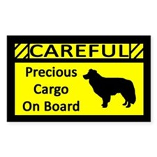 Precious Cargo Border Collie Sticker (Rect)