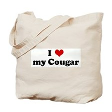 I Love my Cougar Tote Bag