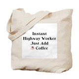 Highway Worker Tote Bag