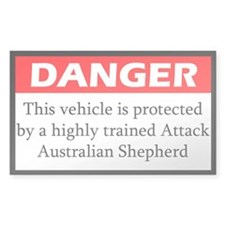 Attack Australian Shepherd Decal