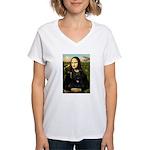 Mona / Briard Women's V-Neck T-Shirt