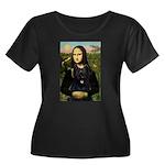 Mona / Briard Women's Plus Size Scoop Neck Dark T-