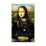 Mona / Briard Sticker (Rectangle)