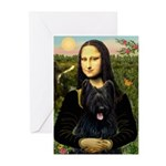 Mona / Briard Greeting Cards (Pk of 10)