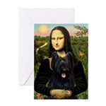 Mona / Briard Greeting Card