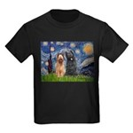 Starry - 2 Briards Kids Dark T-Shirt
