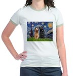 Starry - 2 Briards Jr. Ringer T-Shirt