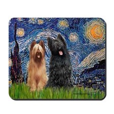Starry - 2 Briards Mousepad