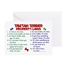 Tibetan Terrier Property Laws 2 Greeting Card