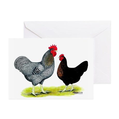 Black Sex-link Chickens Greeting Cards (Pk of 10)
