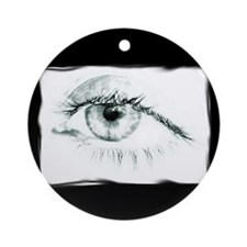 Tired Eye Ornament (Round)