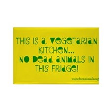 Funny Vegetarianism Rectangle Magnet