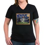 Starry / Brittany S Women's V-Neck Dark T-Shirt