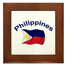 Philippines Flag Framed Tile
