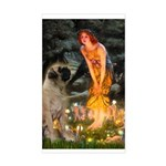 Fairies / Bullmastiff Sticker (Rectangle)