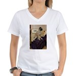 Whistler's / Bullmastiff Women's V-Neck T-Shirt