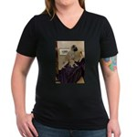 Whistler's / Bullmastiff Women's V-Neck Dark T-Shi
